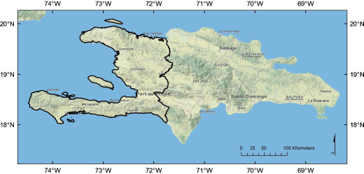 Evaluation Of Forest Cover Estimates For Haiti Using Supervised - Haiti political map 1999