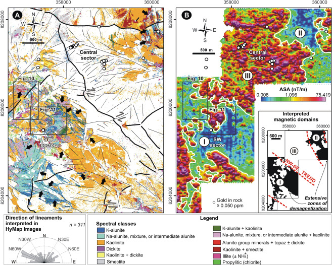 Hyperspectral remote sensing applied to mineral exploration in