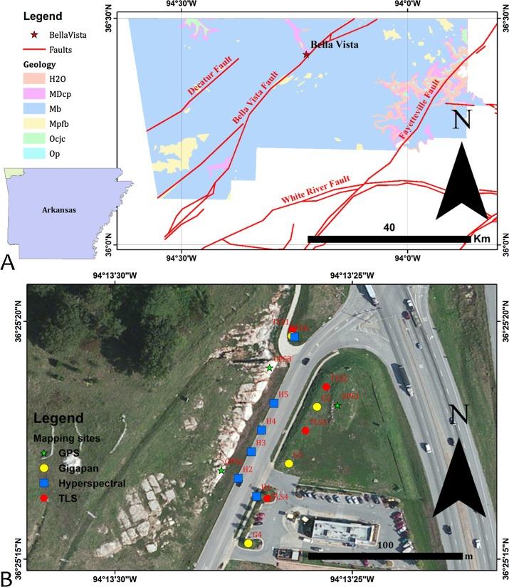 Ground-based hyperspectral imaging and terrestrial laser