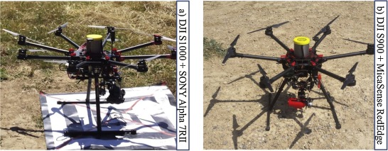 Comparison of four UAV georeferencing methods for