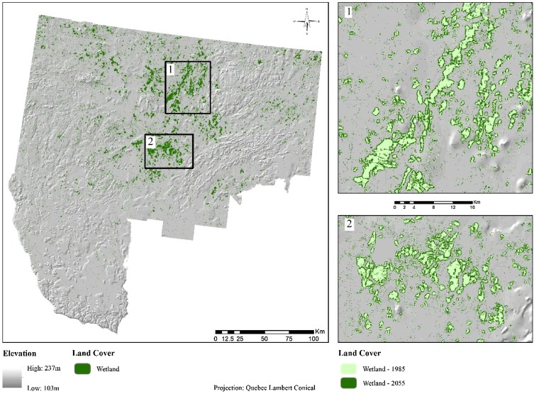 hybrid spatiotemporal simulation of future changes in open wetlands rh sciencedirect com