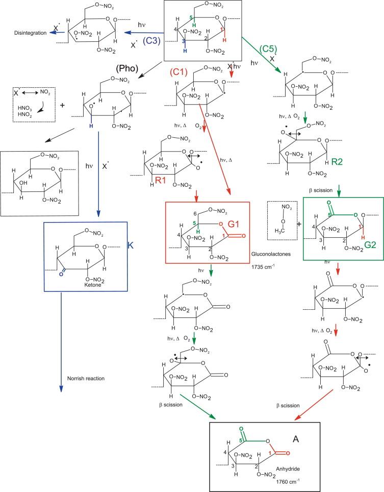 Photooxidation Of Cellulose Nitrate New Insights Into Degradation