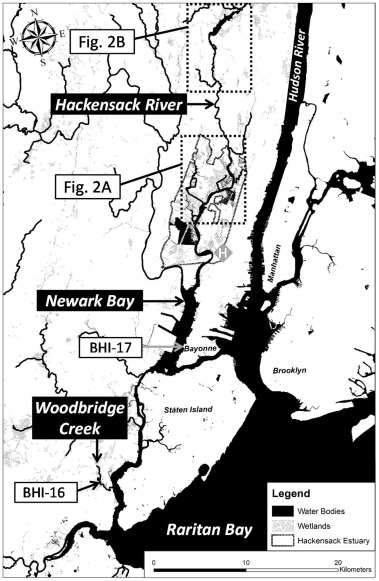 Tracking legacy mercury in the Hackensack River estuary