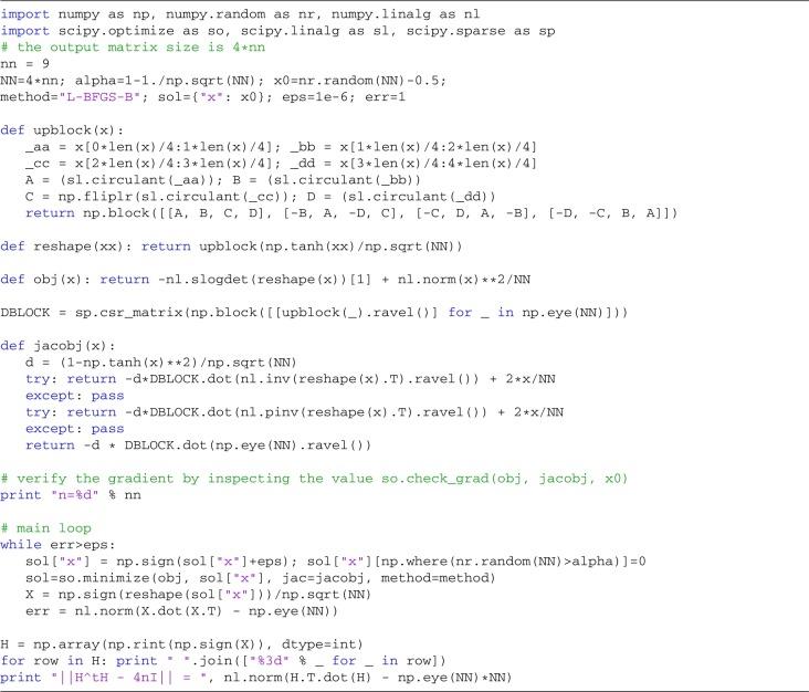 Geometric search for Hadamard matrices - ScienceDirect