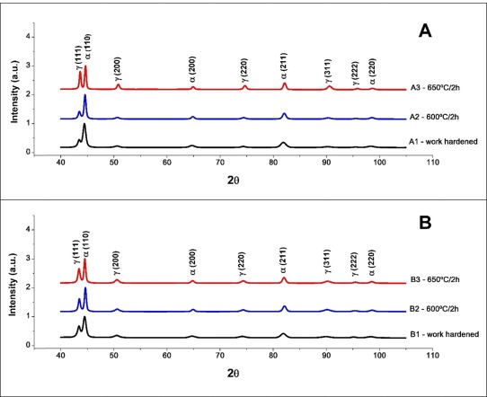 Comparative study on the forming and reversion of strain-induced