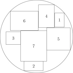 circle packing in a rectangle