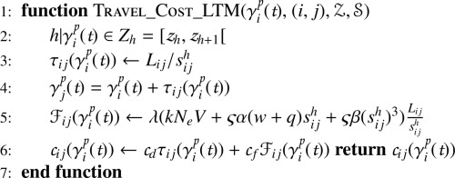 Determining time-dependent minimum cost paths under several