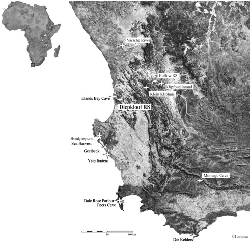 6de1e957ddca ... Download full-size image. Fig. 1. Location of Diepkloof Rock Shelter ( West Coast