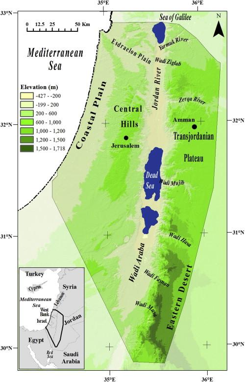 Modeling Vegetation Dynamics In The Southern Levant Through The - Vegetation map of egypt