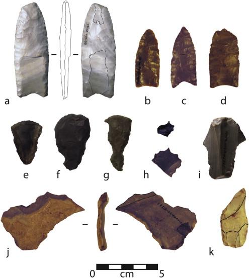 Neutron activation analysis of 12,900-year-old stone