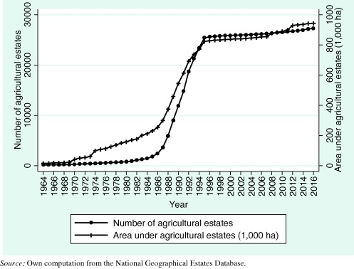 Assessing the long-term performance of large-scale land transfers