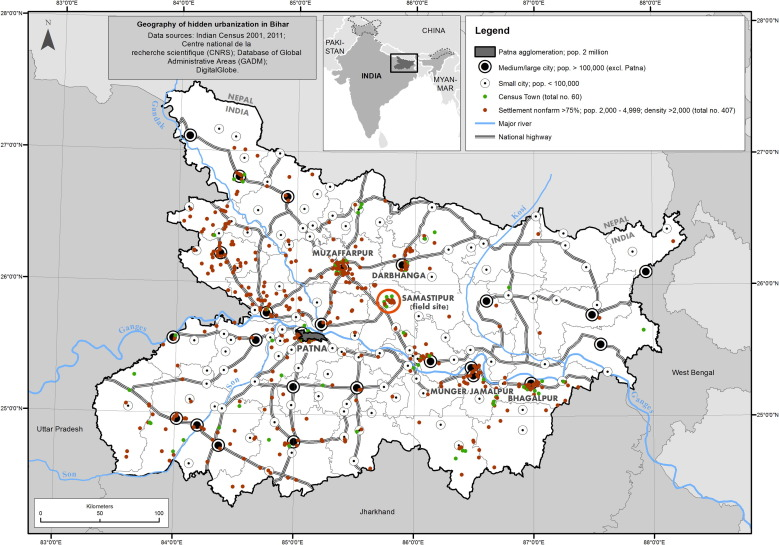 """Why India's urbanization is hidden: Observations from """"rural"""