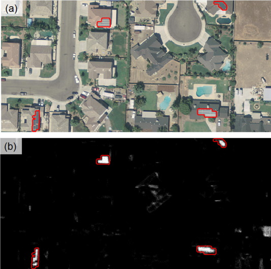 Automatic detection of solar photovoltaic arrays in high resolution
