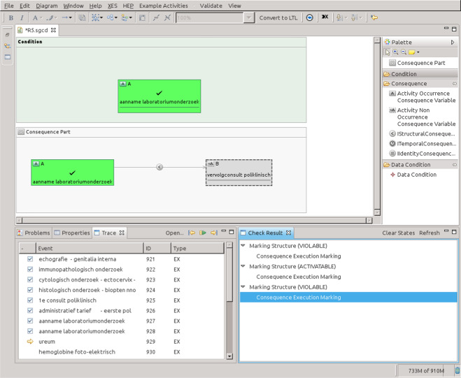 Compliance monitoring in business processes: Functionalities