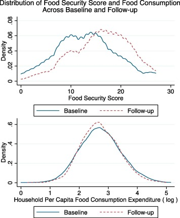 The effect of cash transfers and household vulnerability on food