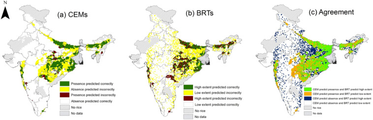places where rice is grown in india