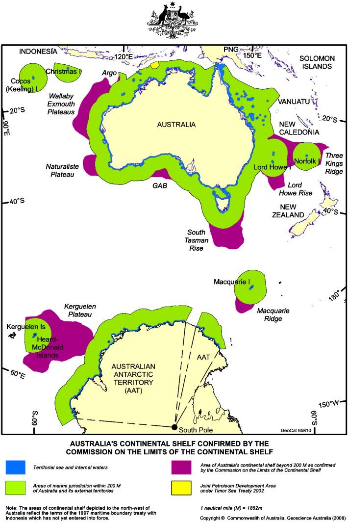 Australia Map Latitude.The Australian Continental Shelf Has Australia S High Latitude