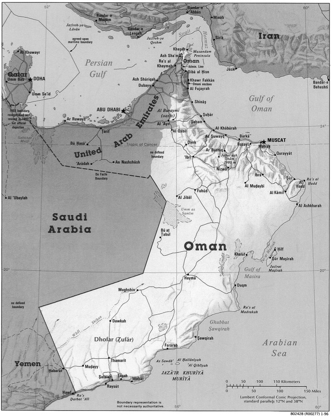 The Fisheries Of Oman A Situation Analysis ScienceDirect - Oman map download