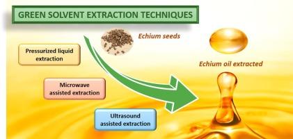 Alternative oil extraction methods from Echium plantagineum