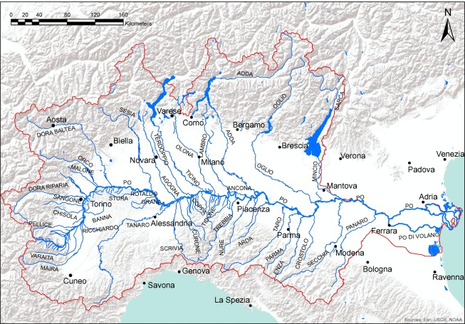 Modeling The Morphodynamic Equilibrium Of An Intermediate Reach Of - Po river