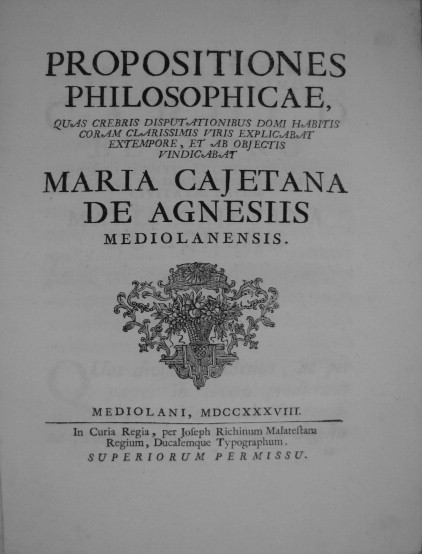 maria gaetana agnesi accomplishments