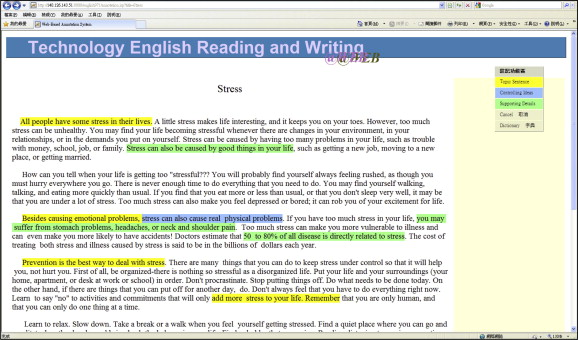 Learning paragraph structure with online annotations: An