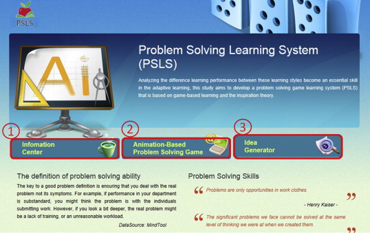 Developing a problem-solving learning system to assess the effects ...