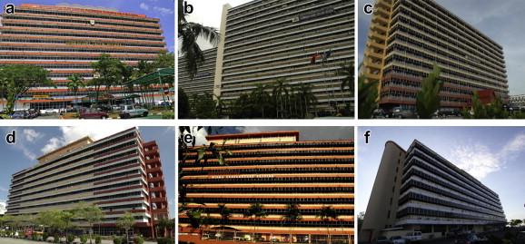 office building facade. Examples Of Typical Government Office Buildings With Similar Plan Shape And Façade Design: (a) Bangunan Tun Datuk Patinggi Tuanku Haji Bujang, Building Facade