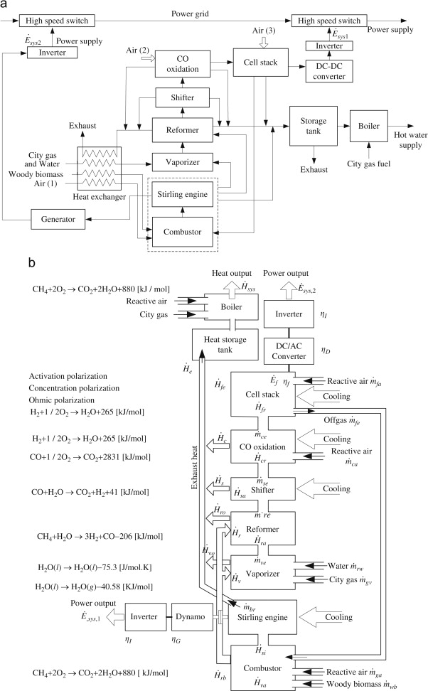 Exergy Analysis Of The Woody Biomass Stirling Engine And Pem Fc