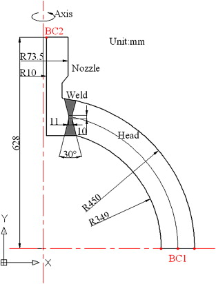Residual Stresses In The Welding Joint Of The Nozzle To Head Area Of