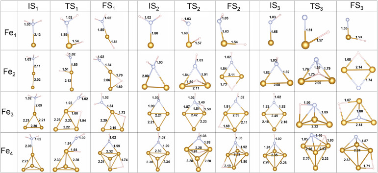 Adsorption And Dissociation Of Ammonia On Small Iron Clusters