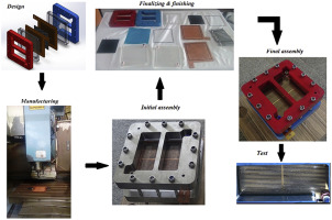 Design, manufacturing, assembling and testing of a transparent PEM