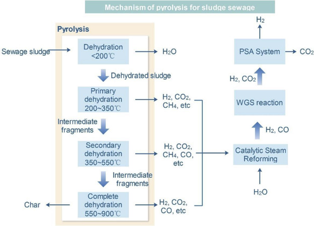 Recent developments of hydrogen production from sewage