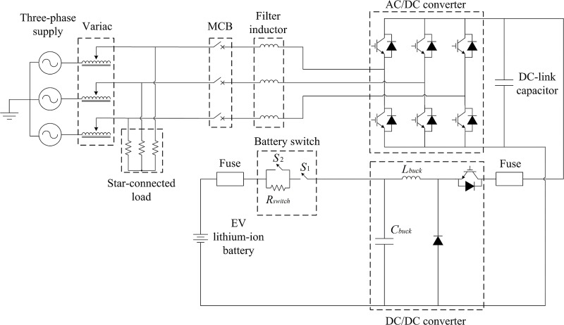 design and development of a three phase off board electric vehicle Golf Cart Charger Diagram
