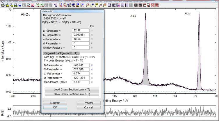 Improved peak-fit procedure for XPS measurements of