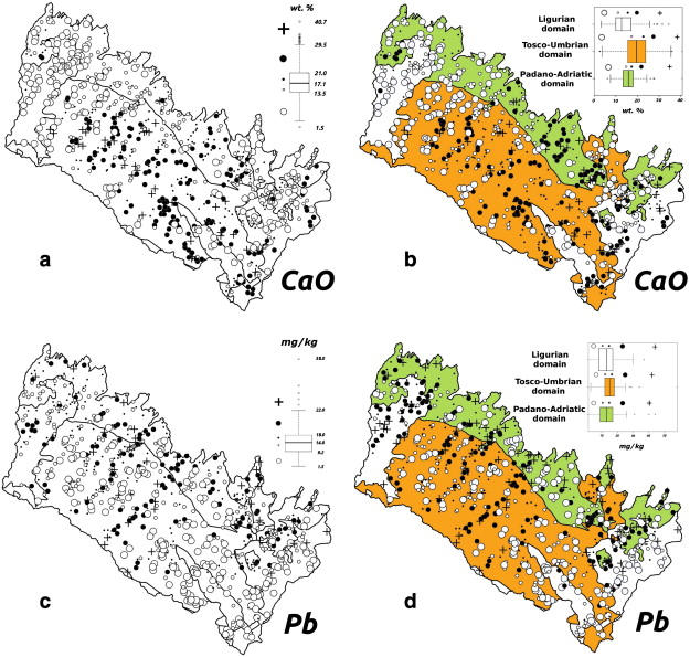 Different spatial methods in regional geochemical mapping at ... on