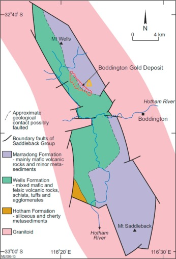 Dispersion of gold and other metals by trees, gravels and