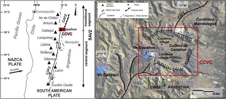 Gas Geochemistry Of The Magmatichydrothermal Fluid Reservoir In - Argentina volcanoes map