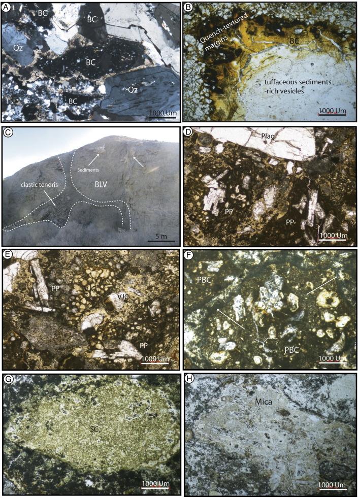 Volcano-sedimentary characteristics in the Abu Treifiya Basin, Cairo