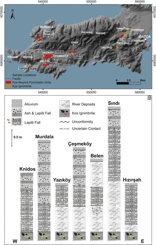 Geochemical characterization of mid-distal Nisyros tephra on Datça ...