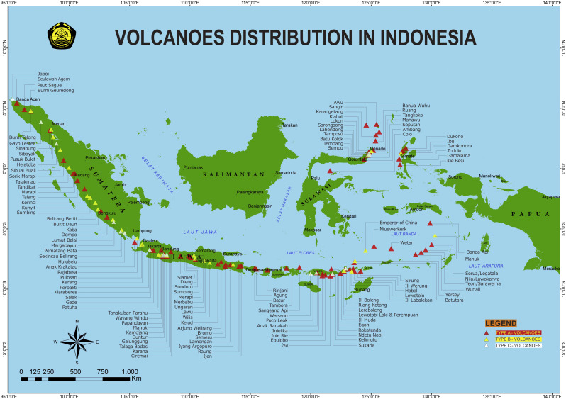 Character of community response to volcanic crises at Sinabung and on mt kelud map, kelut indonesia map, mount sinabung map,
