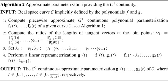 A symbolic-numerical approach to approximate parameterizations of