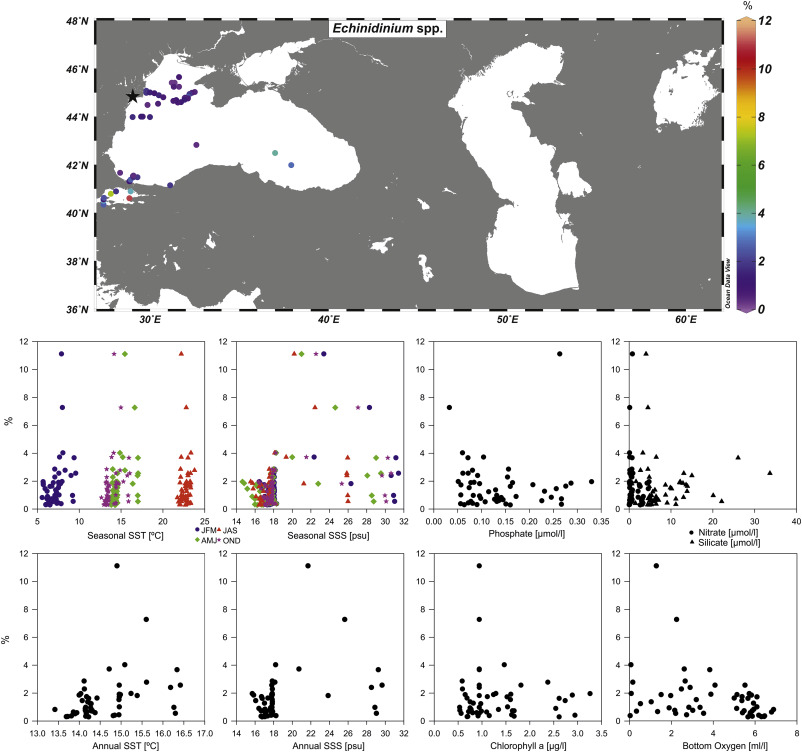 Atlas of modern dinoflagellate cyst distributions in the