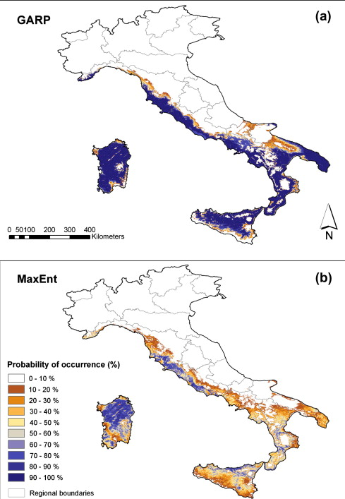 Predicting potential distribution of Quercus suber in Italy based on ...