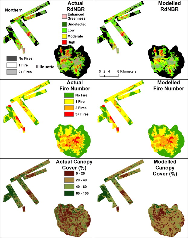 Water balance and topography predict fire and forest