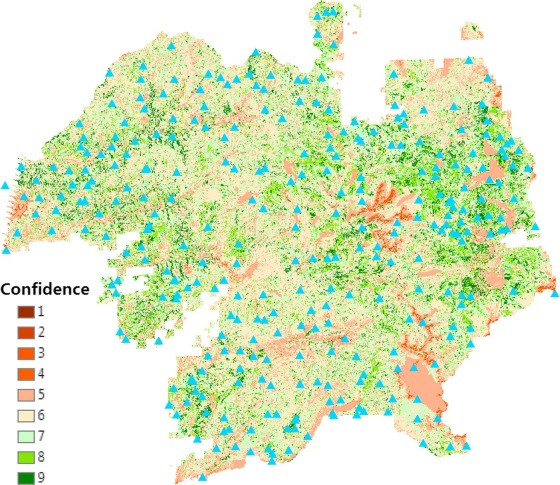 F3: Simulating spatiotemporal forest change from field
