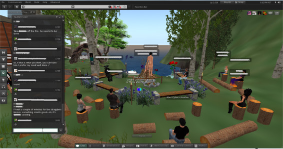 Interaction and space in the virtual world of Second Life