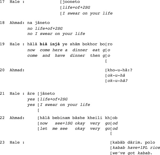 Invitations in farsi an analysis of their turn formats and after identification stopboris Choice Image