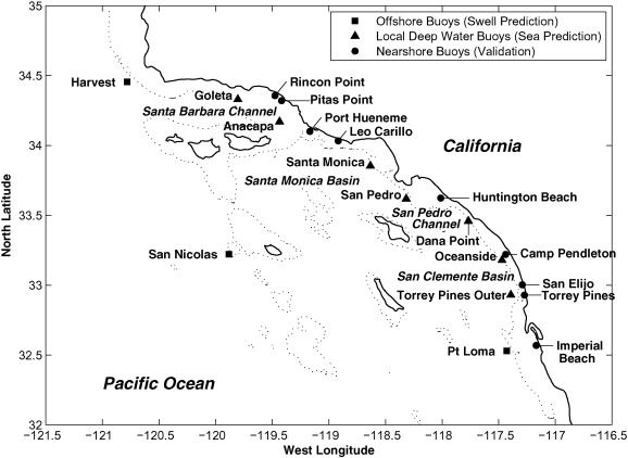 The California coastal wave monitoring and prediction system