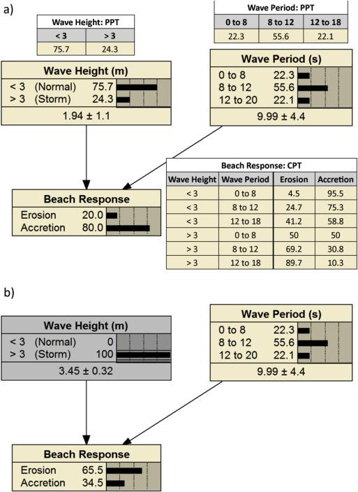 Bayesian Networks in coastal engineering: Distinguishing